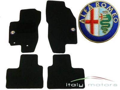 Alfa Romeo 156 Fußmatten Set - Velour Tuftvelour - mit Logo