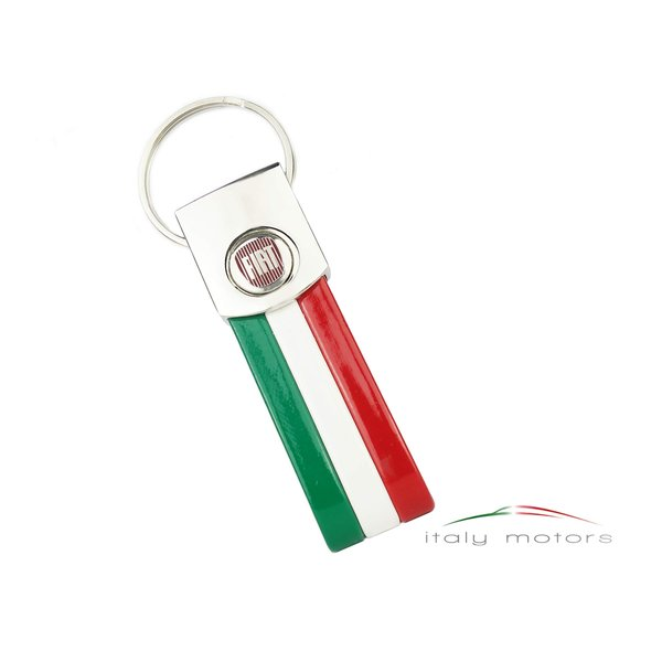 fiat schl252sselanh228nger chromstahl tricolore italienische