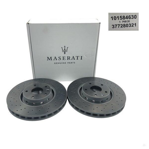 original maserati quattroporte ghibli bremsscheiben set 2 st ck vorne 396 90. Black Bedroom Furniture Sets. Home Design Ideas